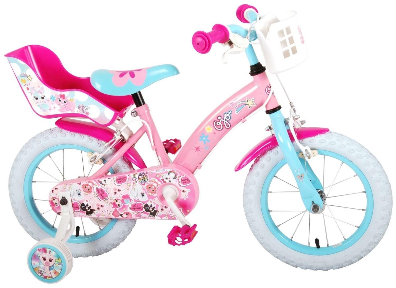 Kinder-Fahrrad Velo OJO  14 Zoll 23,5 cm Mädchen Felgenbremse Rosa/Blau