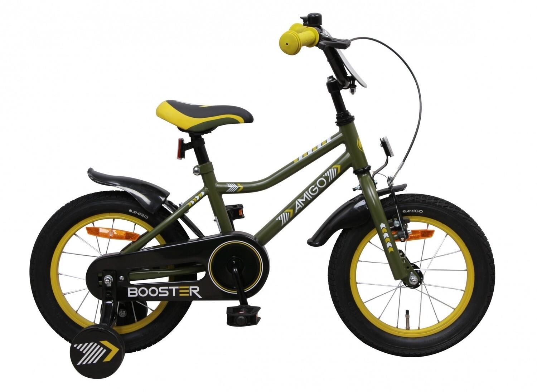Kinder-Fahrrad Velo AMIGO Booster 14 Zoll 22 cm Jungen Rücktrittbremse Grün