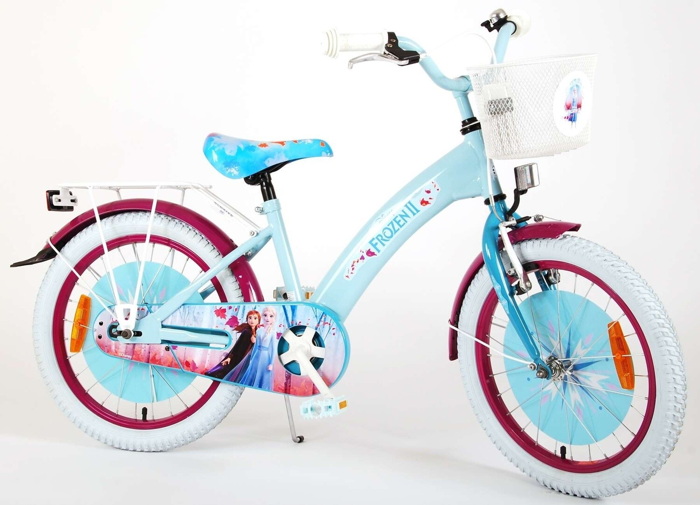 Kinder-Fahrrad Velo Kubbinga Disney Frozen Die Eiskönigin 2 18 Zoll 28 cm Mädchen Rücktrittbremse Blau