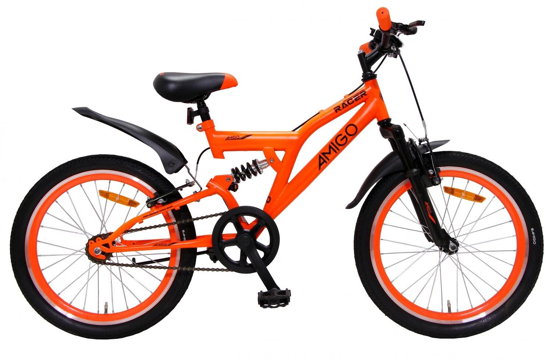Kinder-Fahrrad Velo AMIGO Mountainbike Racer 20 Zoll 33 cm Junior Felgenbremse Orange