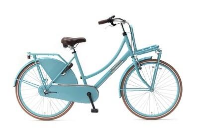 Kinder-Fahrrad Velo Hollandrad Popal Daily Dutch Basic 26 Zoll 46 cm Mädchen Rücktrittbremse Türkis