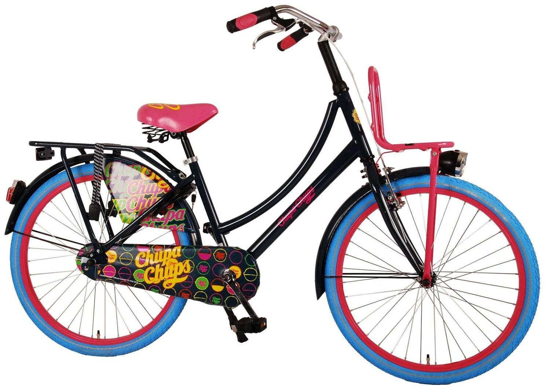 Kinder-Fahrrad Velo Volare Chupa Chups 24 Zoll 37 cm Mädchen Rücktrittbremse Dunkelblau