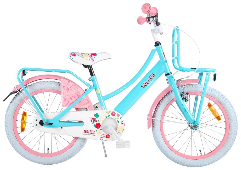 Kinder-Fahrrad Velo Volare Ibiza 18 Zoll 28 cm Mädchen Rücktrittbremse Türkis