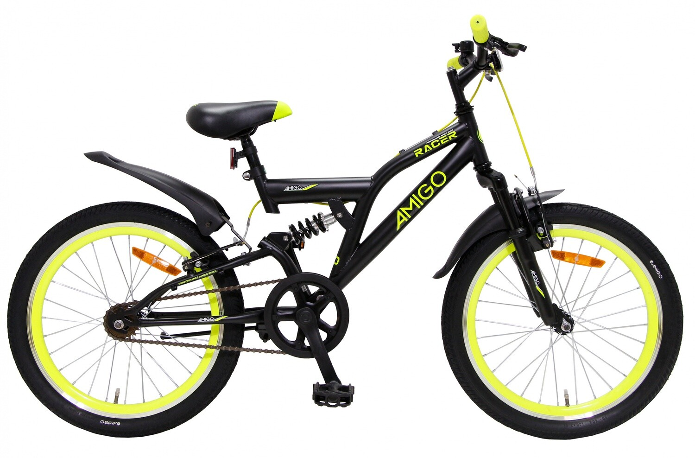 Kinder-Fahrrad Velo AMIGO Racer 20 Zoll 33 cm Junior Felgenbremse Schwarz
