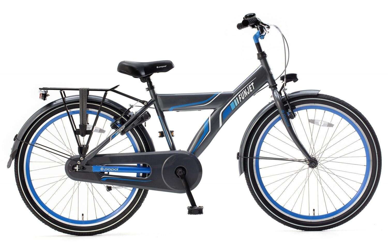 Kinder-Fahrrad Velo Popal Funjet X 24 Zoll Jungen Rücktrittbremse Blau/Grau