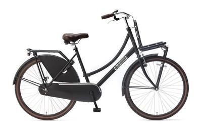 Kinder-Fahrrad Velo Hollandrad Popal Daily Dutch Basic 26 Zoll 46 cm Mädchen Rücktrittbremse Mattschwarz