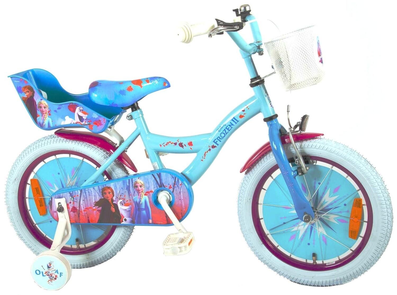 Kinder-Fahrrad VeloKubbinga Disney Frozen Die Eiskönigin 16 Zoll 25,4 cm Mädchen Rücktrittbremse Blau