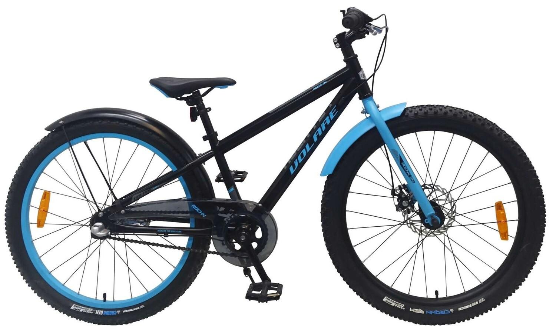 Kinder-Fahrrad Velo Volare Rocky 24 Zoll 31,75 cm Jungen 3G Rücktrittbremse Blau/Schwarz