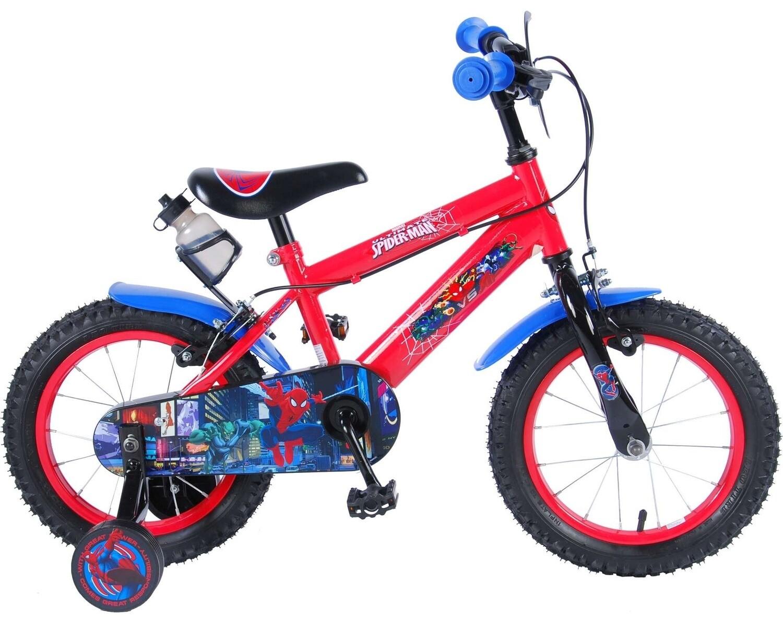 Kinder-Fahrrad Velo Volare Spider-Man Ultimate 14 Zoll 23,5 cm Jungen Felgenbremse Rot