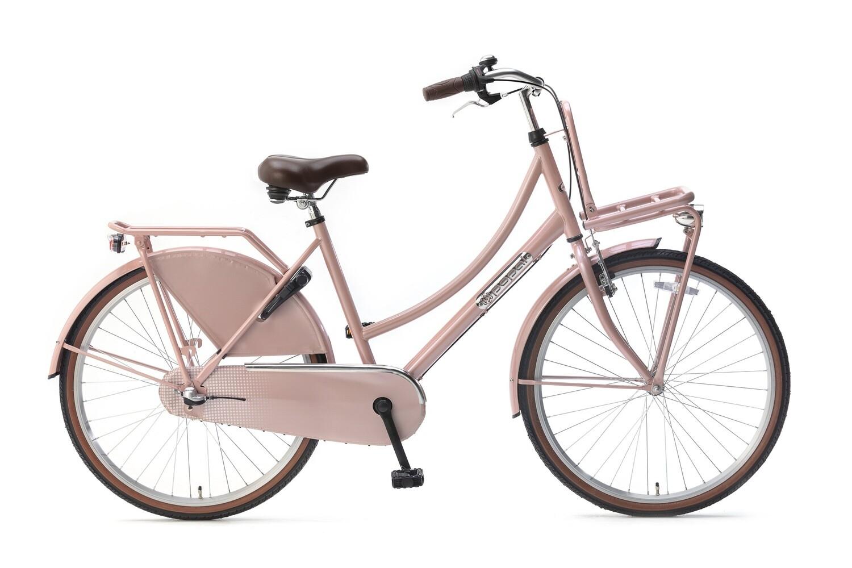 Kinder-Fahrrad Velo Hollandrad Popal Daily Dutch Basic+ 26 Zoll 46 cm Mädchen 3G Rücktrittbremse Lachsfarben