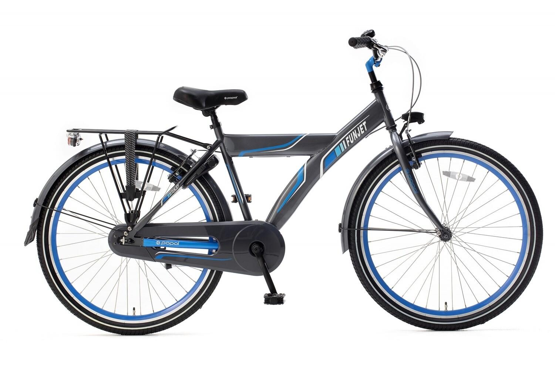 Kinder-Fahrrad Velo Popal Funjet X 26 Zoll Jungen Rücktrittbremse Blau/Grau