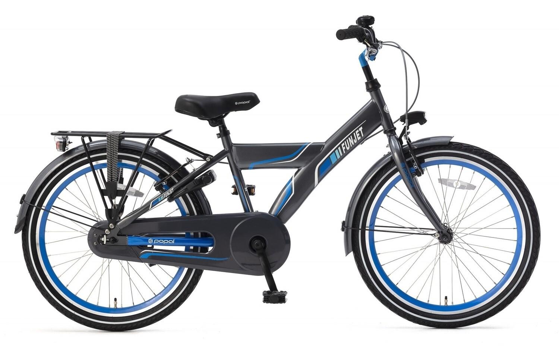 Kinder-Fahrrad Velo Popal Funjet X 22 Zoll Jungen Rücktrittbremse Blau/Grau