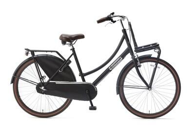 Kinder-Fahrrad Velo Hollandrad Popal Daily Dutch Basic+ 26 Zoll 46 cm Mädchen 3G Rücktrittbremse Mattschwarz