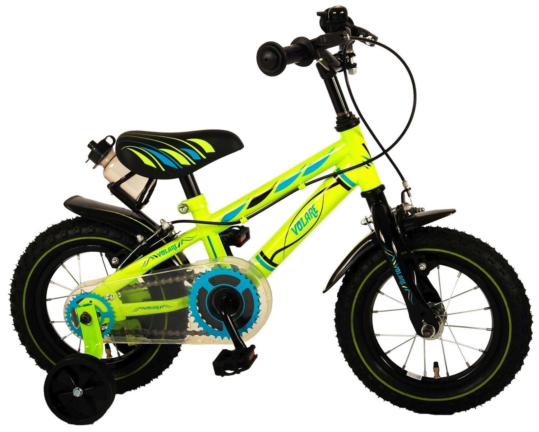 Kinder-Fahrrad Velo Volare Electric 12 Zoll 21,5 cm Jungen Felgenbremse Grün