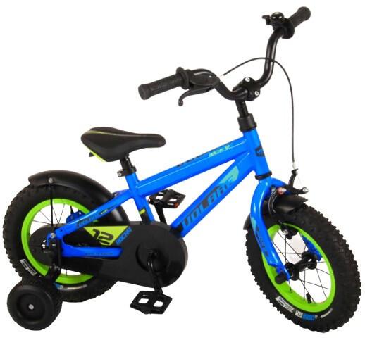 Kinder-Fahrrad Velo Volare Rocky 12 Zoll 21,5 cm Jungen Rücktrittbremse Blau/Grün