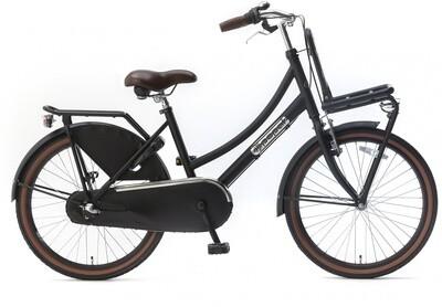 Kinder-Fahrrad Velo Hollandrad Popal Daily Dutch Basic+ 22 Zoll 36 cm Mädchen 3G Rücktrittbremse Mattschwarz