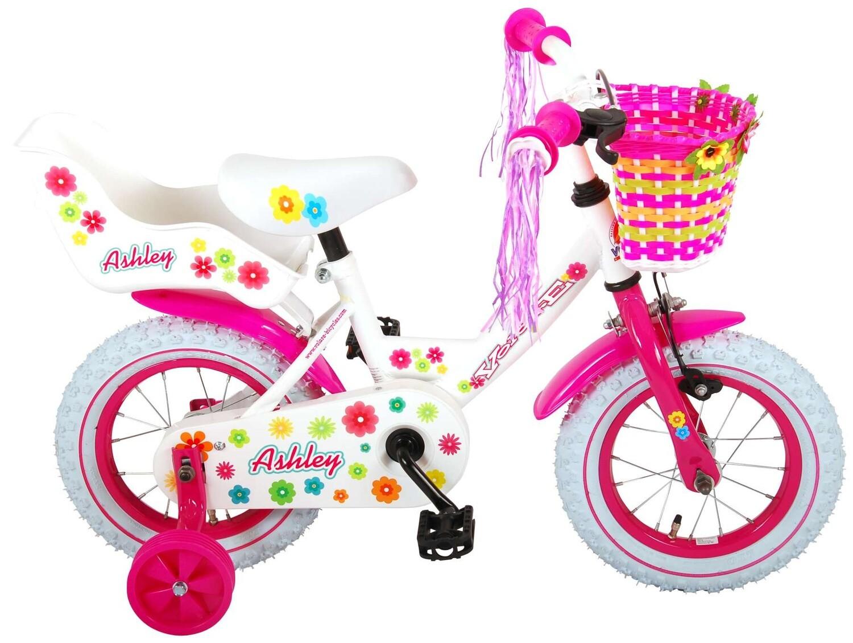 Kinder-Fahrrad Velo Volare Ashley 12 Zoll 21,5 cm Mädchen Rücktrittbremse Weiss