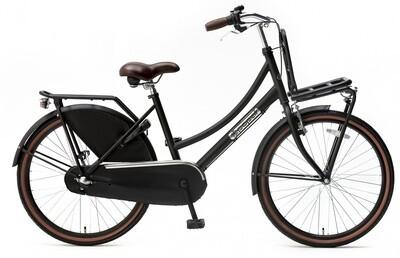 Kinder-Fahrrad Velo Hollandrad Popal Daily Dutch Basic+ 24 Zoll 42 cm Mädchen 3G Rücktrittbremse Mattschwarz