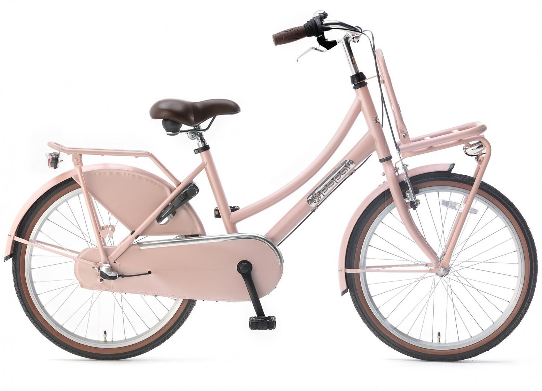 Kinder-Fahrrad Velo Hollandrad Popal Daily Dutch Basic+ 22 Zoll 36 cm Mädchen 3G Rücktrittbremse Lachsfarben