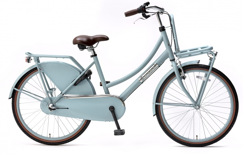 Kinder-Fahrrad Velo Hollandrad Popal Daily Dutch Basic+ 24 Zoll 42 cm Mädchen 3G Rücktrittbremse Mattblau