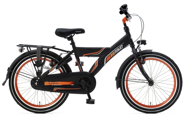 Kinder-Fahrrad Velo Popal Funjet X 20 Zoll Jungen Rücktrittbremse Schwarz/Orange