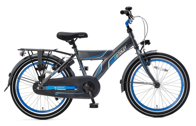 Kinder-Fahrrad Velo Popal Funjet X 20 Zoll Jungen Rücktrittbremse Blau/Grau