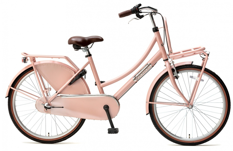 Kinder-Fahrrad Velo Hollandrad Popal Daily Dutch Basic+ 24 Zoll 42 cm Mädchen 3G Rücktrittbremse Lachsfarben