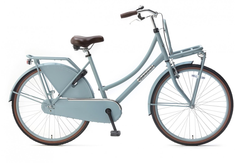 Kinder-Fahrrad Velo Hollandrad Popal Daily Dutch Basic 26 Zoll 46 cm Mädchen Rücktrittbremse Mattblau