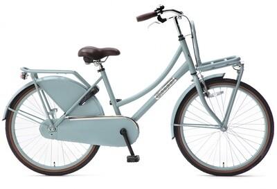 Kinder-Fahrrad Velo Hollandrad Popal Daily Dutch Basic 24 Zoll 42 cm Mädchen Rücktrittbremse Mattblau