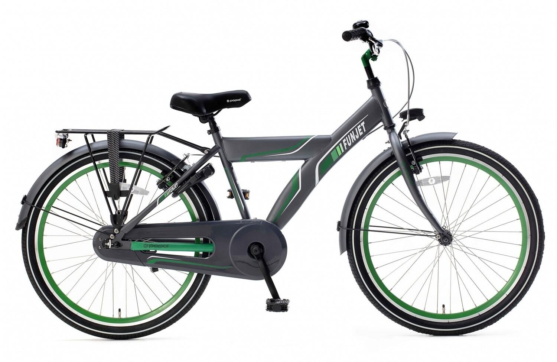 Kinder-Fahrrad Velo Popal Funjet X 24 Zoll Jungen Rücktrittbremse Grün/Grau