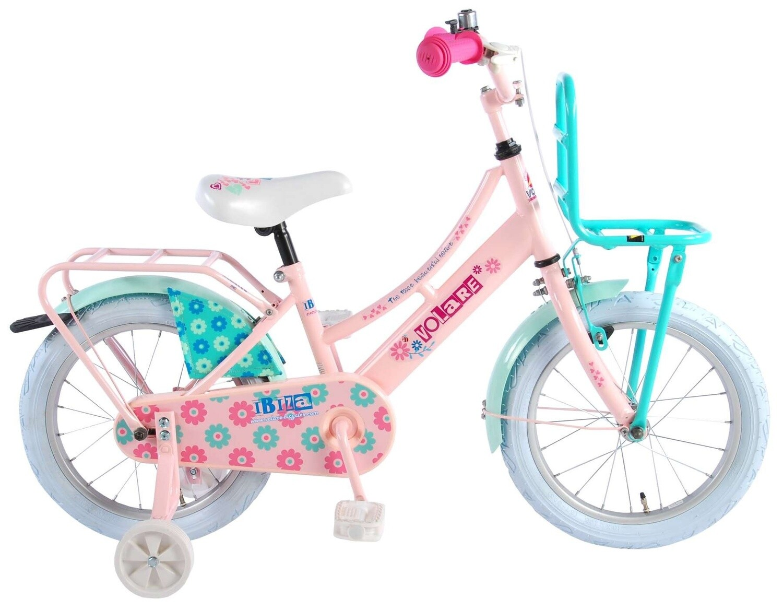 Kinder-Fahrrad Velo Volare Ibiza 16 Zoll 25,4 cm Mädchen Rücktrittbremse Lachsfarben