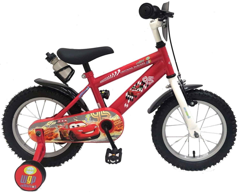 Kinder-Fahrrad Velo Disney Cars 14 Zoll 23,5 cm Jungen Felgenbremse Rot/Schwarz