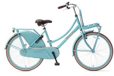 Kinder-Fahrrad Velo Popal Daily Dutch Basic 24 Zoll 42 cm Mädchen Rücktrittbremse Türkis