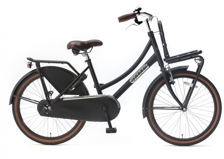Kinder-Fahrrad Velo Hollandrad Popal Daily Dutch Basic 22 Zoll 36 cm Mädchen Rücktrittbremse Mattschwarz