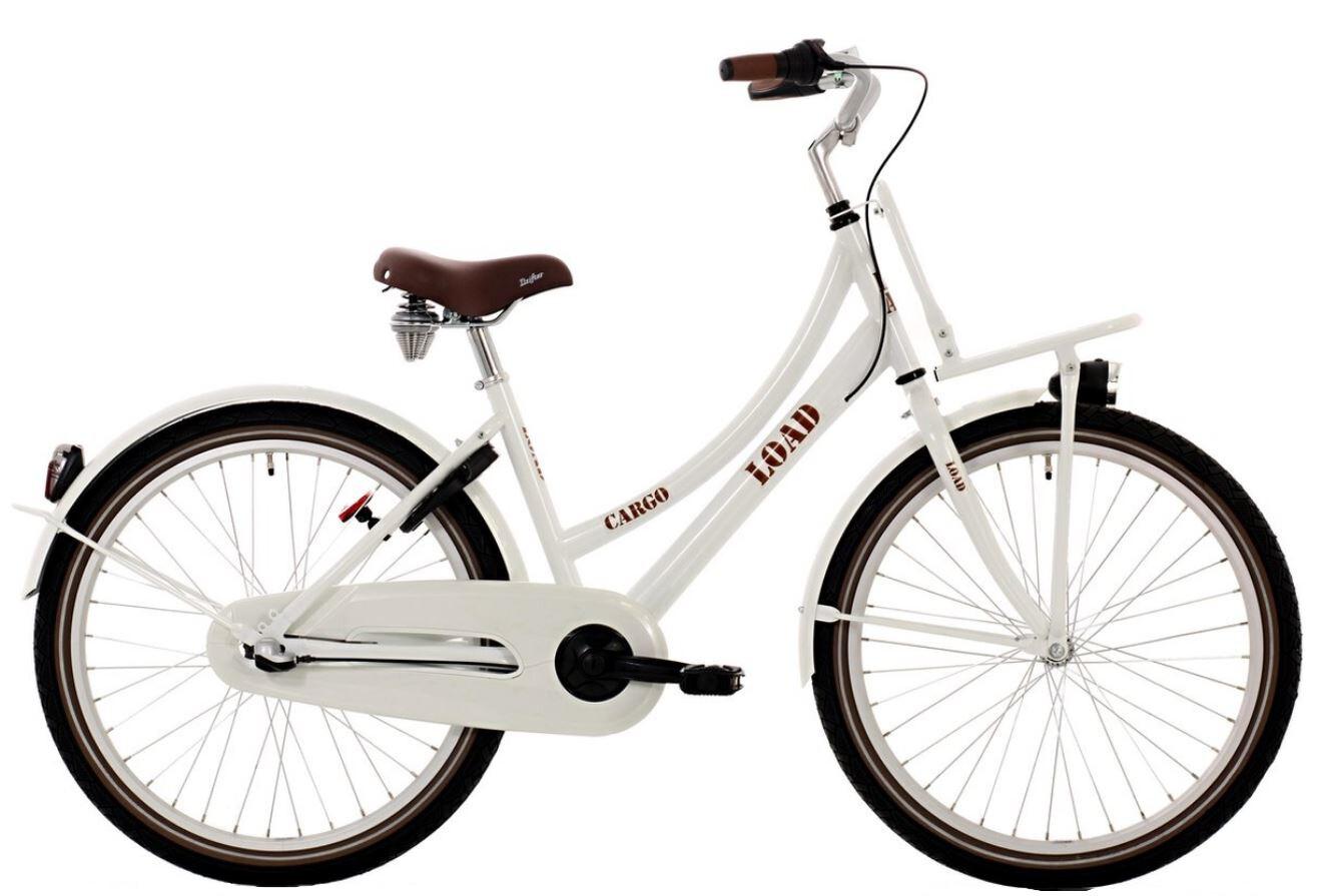 Kinder-Fahrrad Velo Bike Life Load 26 Zoll 43 cm Mädchen 3G Felgenbremse Weiss/Braun