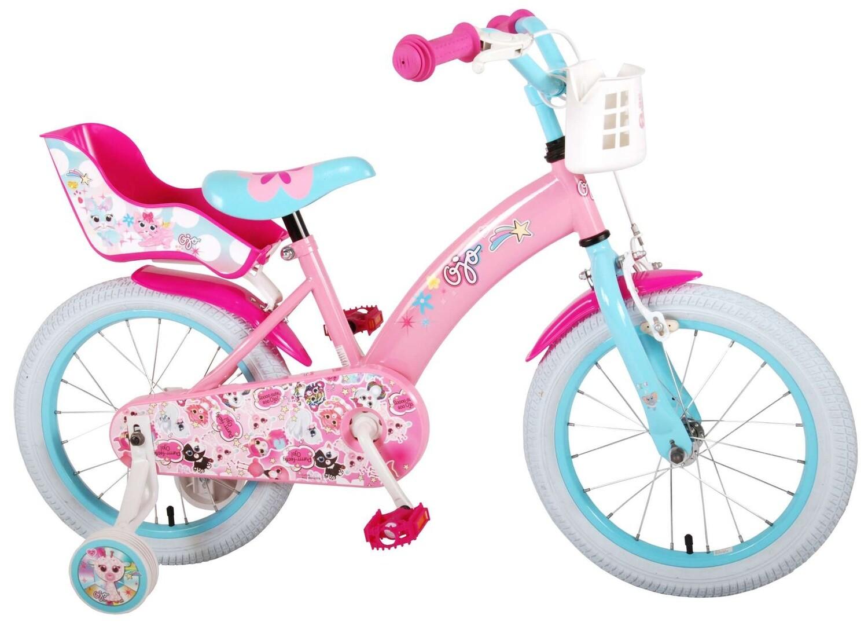 Kinder-Fahrrad Velo OJO 16 Zoll 25,4 cm Mädchen Rücktrittbremse Rosa/Hellblau