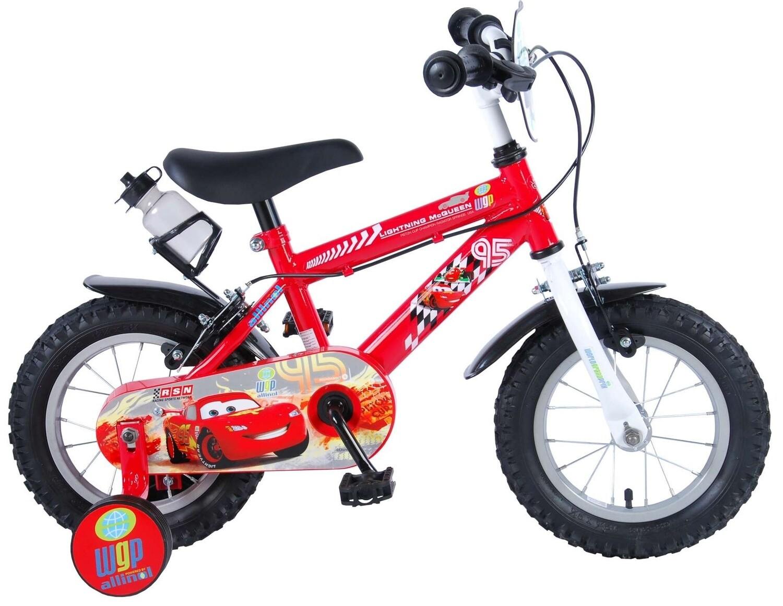 Kinder-Fahrrad Velo Disney Cars 12 Zoll 21,5 cm Jungen Felgenbremse Rot