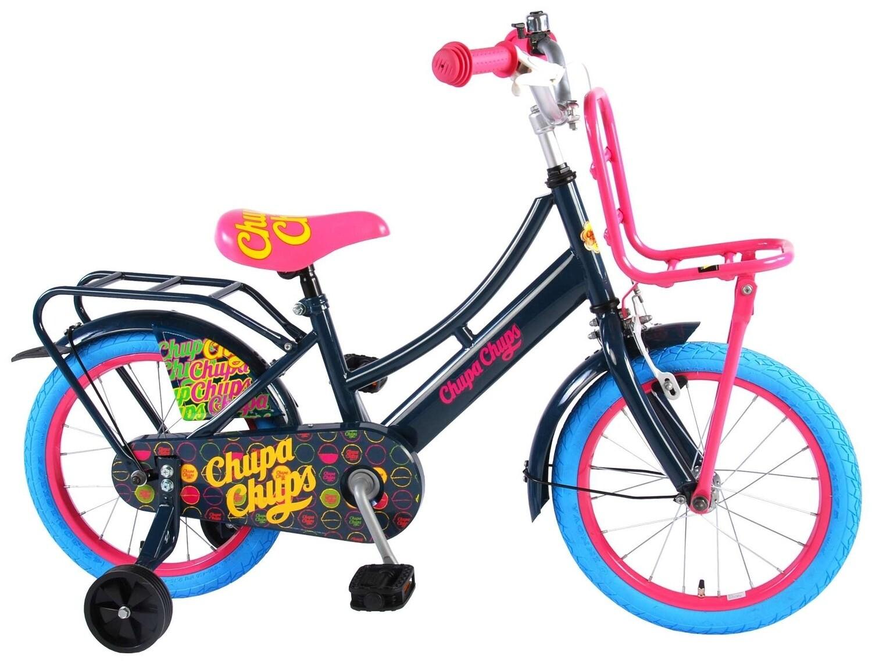 Kinder-Fahrrad Velo Volare Chupa Chups 16 Zoll 25,4 cm Mädchen Rücktrittbremse Schwarz
