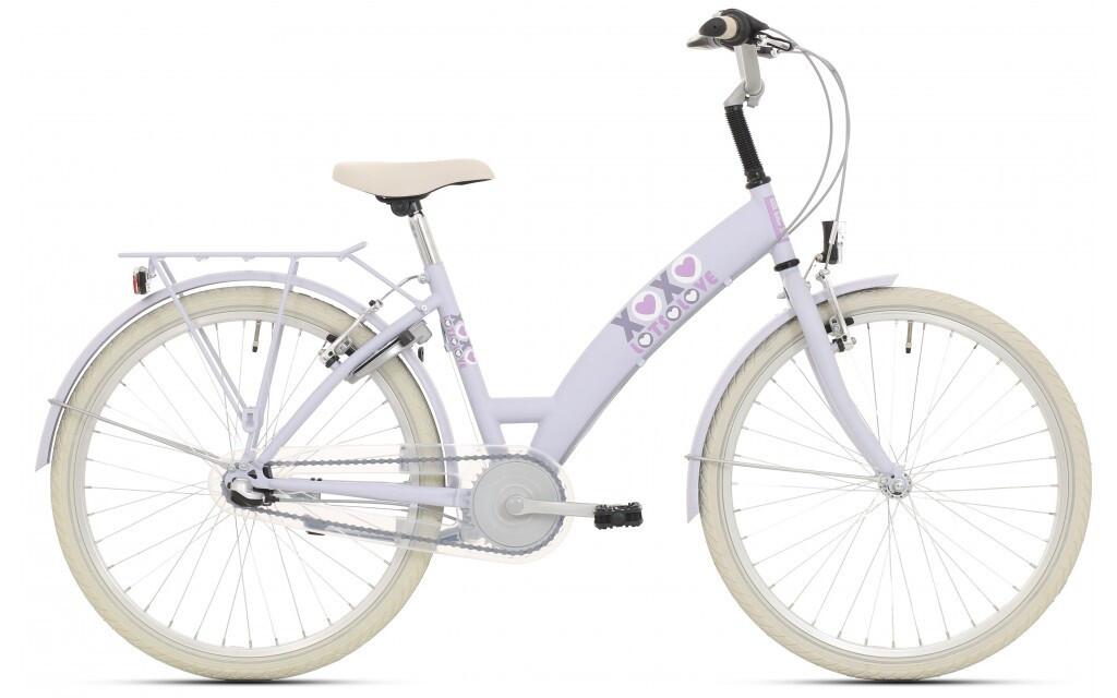 Kinder-Fahrrad Velo Bike Fun Lots of Love 24 Zoll 39 cm Mädchen 3G Rücktrittbremse Hellblau