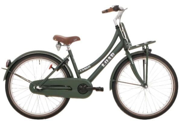 Kinder-Fahrrad Velo Bike Fun Load 24 Zoll 39 cm Mädchen Rücktrittbremse Dunkelgrün