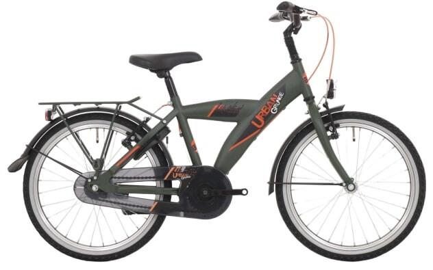 Kinder-Fahrrad Velo Bike Fun Urban 26 Zoll 43 cm Jungen 3G Felgenbremse Dunkelgrün