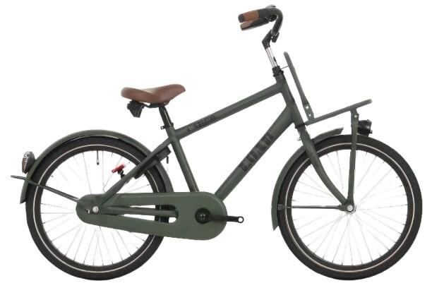 Kinder-Fahrrad Velo Bike Fun Load 24 Zoll 38 cm Jungen 3G Rücktrittbremse Dunkelgrün