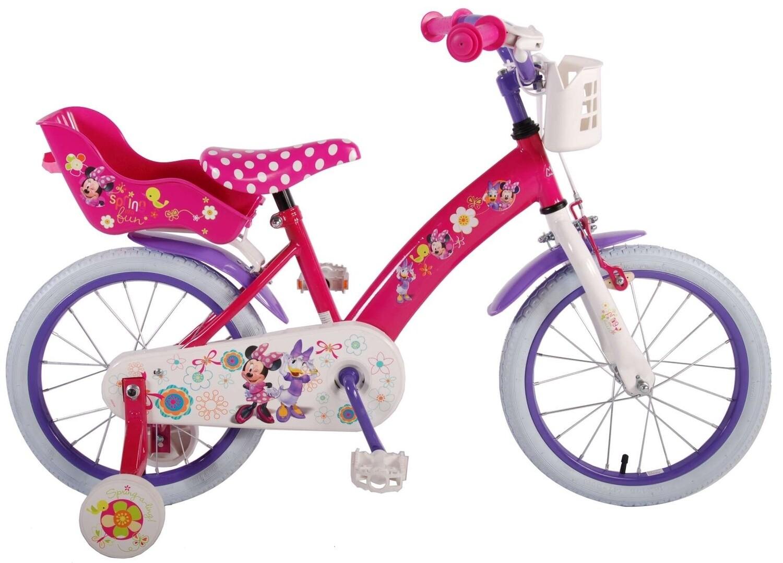 Kinder-Fahrrad Velo Volare Disney Minnie Mouse Daisy Duck Bow-Tique 16 Zoll 25,4 cm Mädchen Rücktrittbremse Rosa