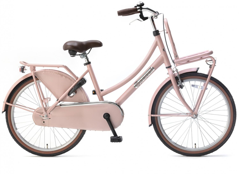 Kinder-Fahrrad Velo Hollandrad Popal Daily Dutch Basic 22 Zoll 36 cm Mädchen Rücktrittbremse Lachsfarben