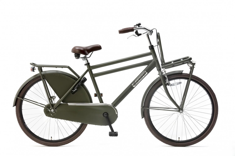 Kinder-Fahrrad Velo Hollandrad Popal Daily Dutch Basic 26 Zoll 46 cm Jungen Rücktrittbremse Armeegrün