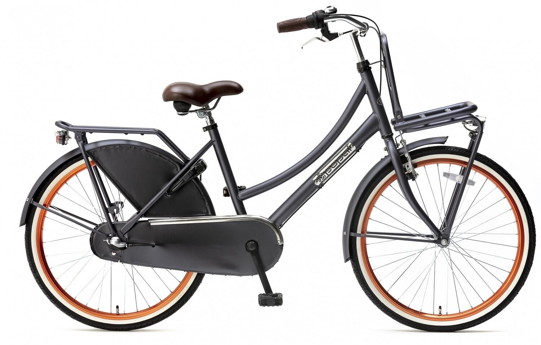 Kinder-Fahrrad Velo Hollandrad Popal Daily Dutch Basic+ 24 Zoll 42 cm Mädchen 3G Rücktrittbremse Petrolblau