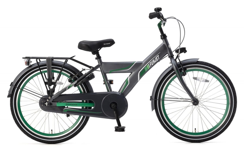 Kinder-Fahrrad Velo Popal Funjet X 22 Zoll Jungen Rücktrittbremse Grün/Grau