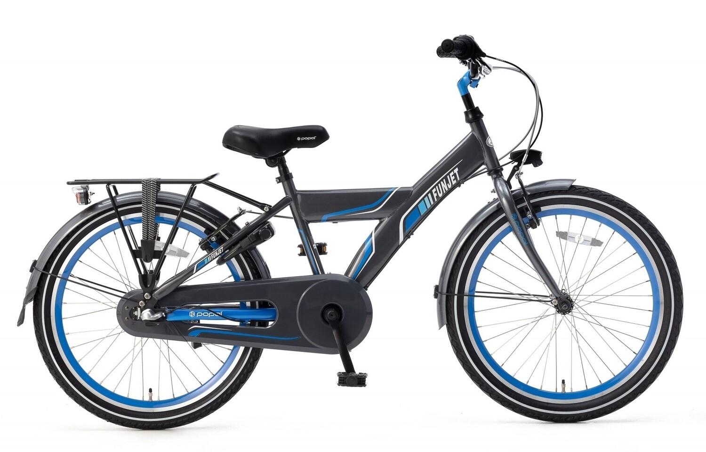 Kinder-Fahrrad Velo Popal Funjet N3 22 Zoll Jungen 3G Rücktrittbremse Blau/Grau