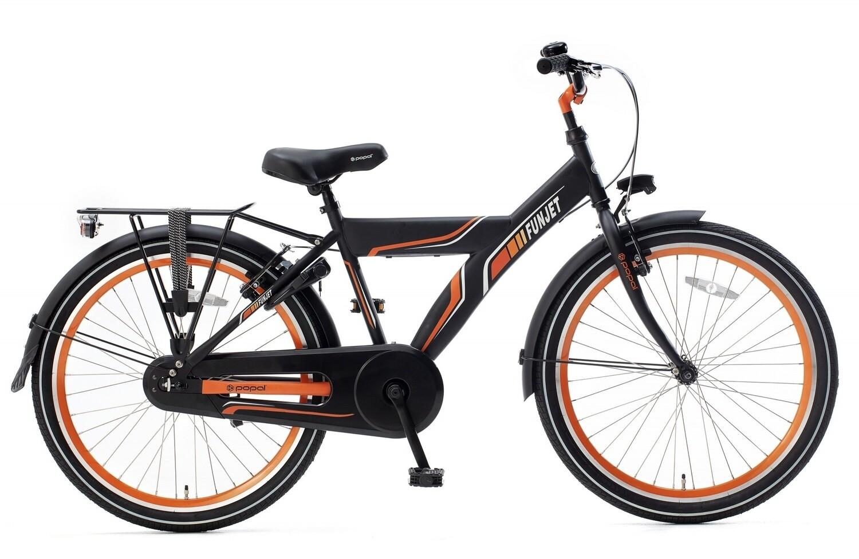 Kinder-Fahrrad Velo Popal Funjet X 24 Zoll Jungen Rücktrittbremse Schwarz/Orange
