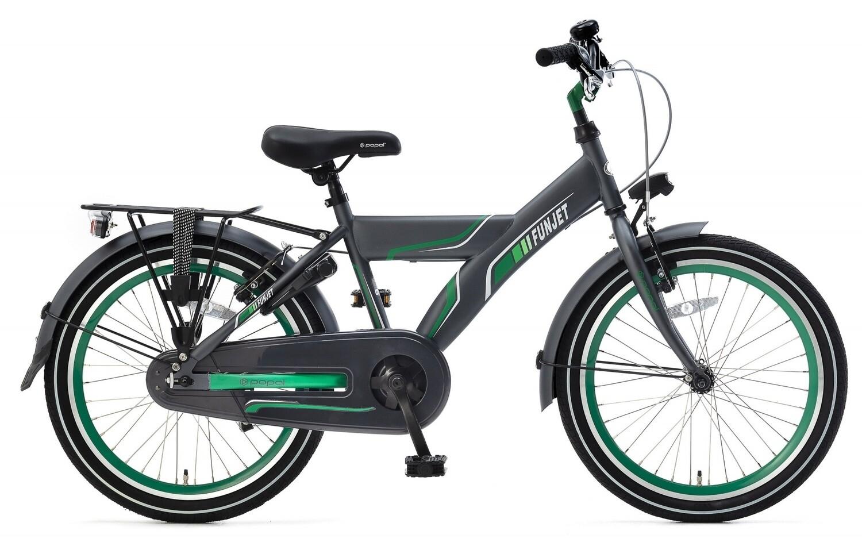 Kinder-Fahrrad Velo Popal Funjet X 20 Zoll Jungen Rücktrittbremse Grün/Grau